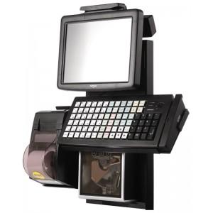 """POS-комплект 9,7"""" Posiflex Retail Профи черный( TX-2100, LM-3110, KB-6600 c ридером, PD-2800, фронт.стойка) Без ОС"""