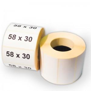Термоэтикетка 58*30 мм