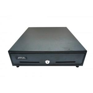 Денежный ящик АТОЛ ЕС-350-В черный, 350*405*90, 24V, для Штрих-ФР