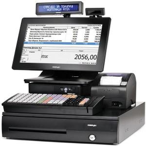 "POS-система ForPOSt Супермаркет 8"" черная [АТОЛ FPrint-22ПТK с ФН 15 мес, Windows POSReady, Frontol 6, TX-2100-B-RT, КВ, MSR123, ДП, ДЯ]"